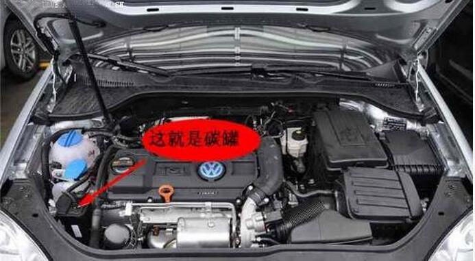 然后在达到一定条件的时候,ecu打开碳罐电磁阀让汽油蒸汽进入图片