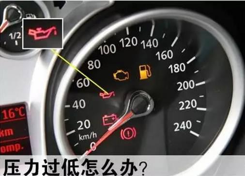 发动机机油压力过低